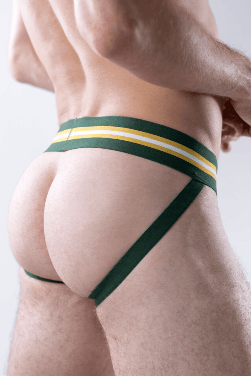 sexy-jockstrap-gay-underwear-mens-jock-3-Pack: Black, Green, Burgundy Jockstraps - Coyote Jocks Inc.