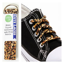 Load image into Gallery viewer, leopard print shoe laces for children kids