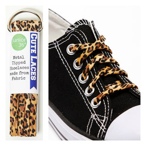 leopard print shoe laces for children kids