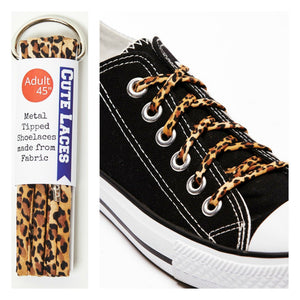 leopard print shoe laces for adults