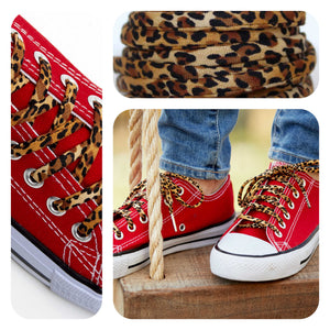 Shoelaces - Leopard Print