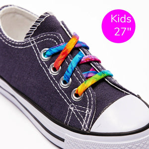 "27"" shoelaces tie-dye"