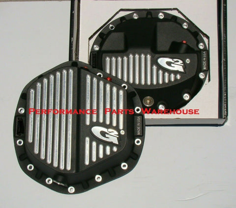 BILLET ALUMINUM F&R DIFFERENTIAL COVERS - 2014-19 RAM 2500 3500 w LEAF SPRINGS