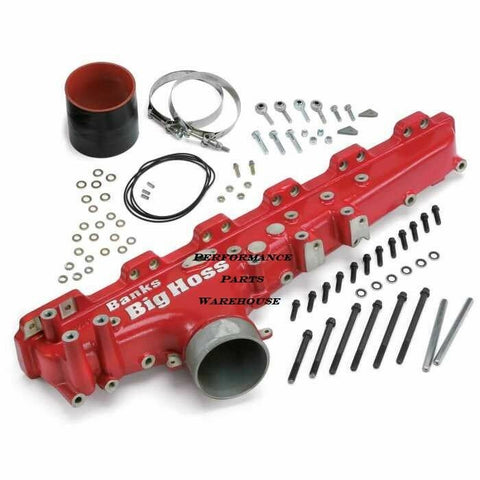 BANKS BIG HOSS INTAKE MANIFOLD Fits 03-07 DODGE 5.9L CUMMINS - RED FINISH