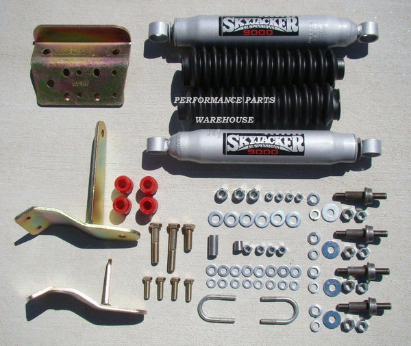 DUAL FRONT STEERING STABILIZER SHOCK KIT 03-08 DODGE RAM 2500 3500 4x4 w/ LIFT