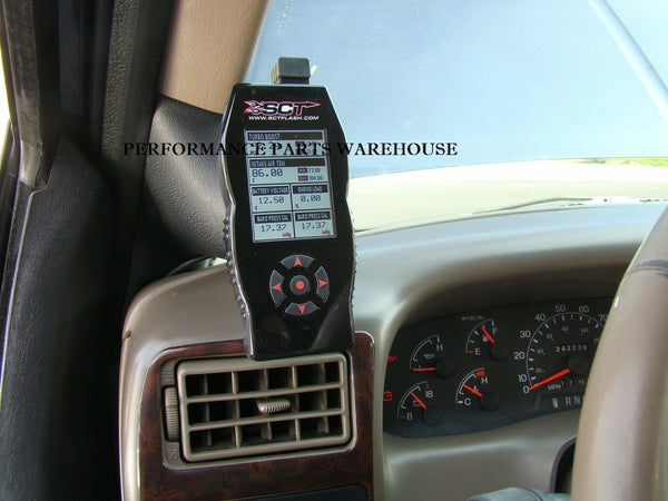 SCT X4 PROGRAMMER & PILLAR MOUNT 99-07 FORD F250 F350 EXCURSION