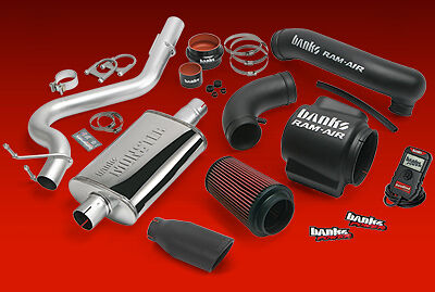 BANKS STINGER SYSTEM w AUTOMIND 00-03 JEEP WRANGLER 4.0L - BLACK EXHAUST TIP