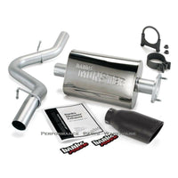 BANKS MONSTER EXHAUST SYSTEM 1991-95 JEEP WRANGLER 4.0 - BLACK TIP