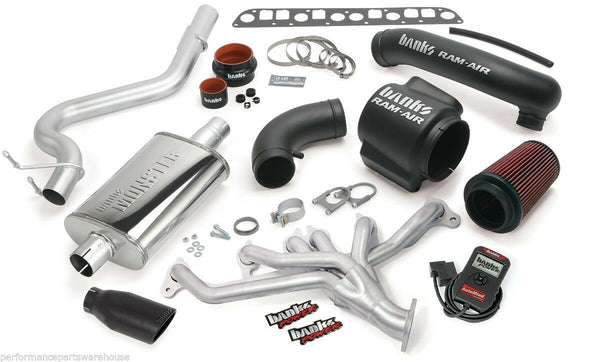 BANKS POWERPACK SYSTEM, AUTOMIND 98-99 JEEP WRANGLER / BLACK EXHAUST TIP