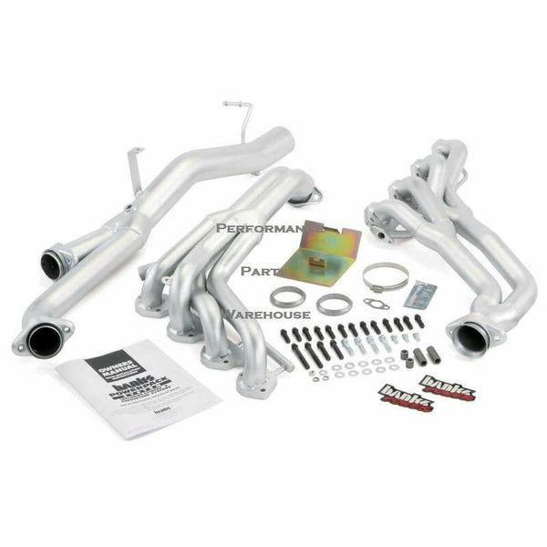 BANKS EXHAUST HEADERS 93-97 FORD F250 F350 7.5L - MANUAL TRANS, AIR INJECTED