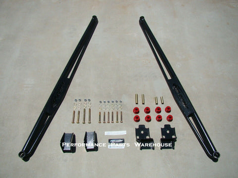 "73"" LATERAL TRACTION BARS & MOUNTS 03-12 DODGE RAM MEGA CAB & LONG BED/ CREW CAB"