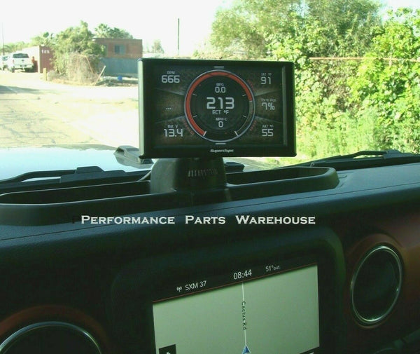 SUPERCHIPS TRAILCAL MONITOR w/ DASH MOUNT 2018 JEEP WRANGLER JL