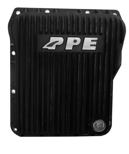 PPE LOW-PROFILE TRANSMISSION PAN 01-16 DURAMAX 1000-2400 ALLISON- BLACK ALUMINUM