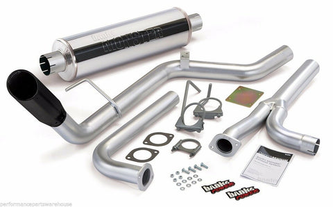 BANKS MONSTER EXHAUST For 2005-15 NISSAN FRONTIER - BLACK TIP