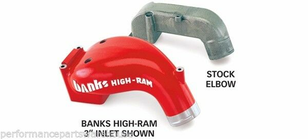 "BANKS 3"" HIGH-RAM AIR INTAKE MANIFOLD Fits 98.5-02 DODGE 5.9L CUMMINS"