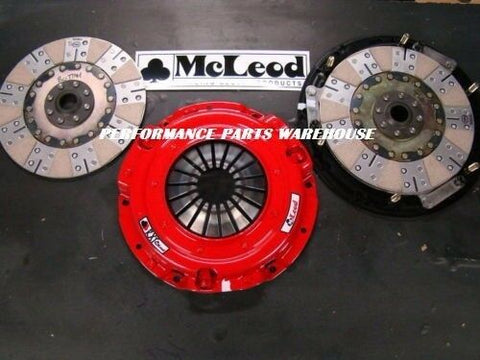 McLEOD RXT TWIN DISC CLUTCH 1000-HP 79-95 MUSTANG 5.0 & 96-00 4.6, 10-SPLINE