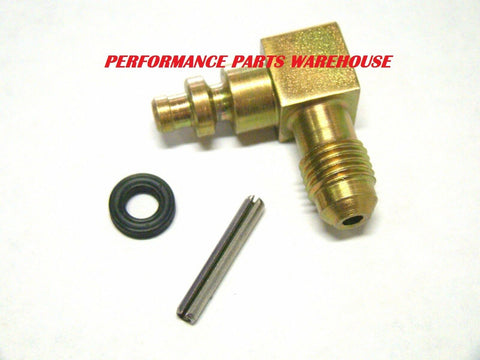 84-97 CHEVY T5, T56 HYDRAULIC CLUTCH LINE FITTING 90° AN-4; 5 & 6-SPEED SWAP