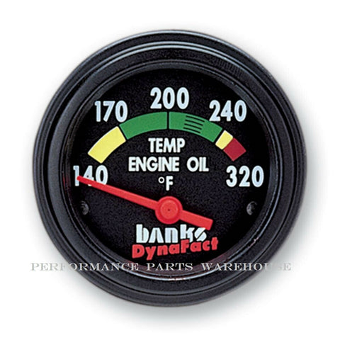 BANKS ENGINE OIL TEMP GAUGE Fits 93-02 CUMMINS 5.9-8.3L CLASS-A MOTORHOME PUSHER