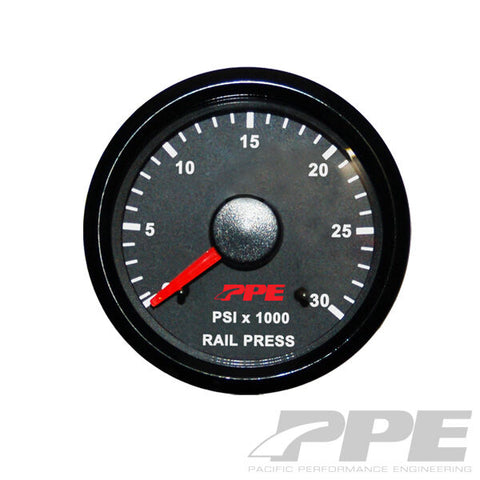"PPE FUEL RAIL PRESSURE GAUGE 2 1/16"" Fits 03-06 DODGE CUMMINS & 01-05 GM DURAMAX"