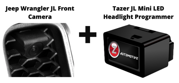 Tazer JL Mini LED Headlight Programmer + Front Camera (Bundle) for 2018-21 Jeep Wrangler JL / Gladiator