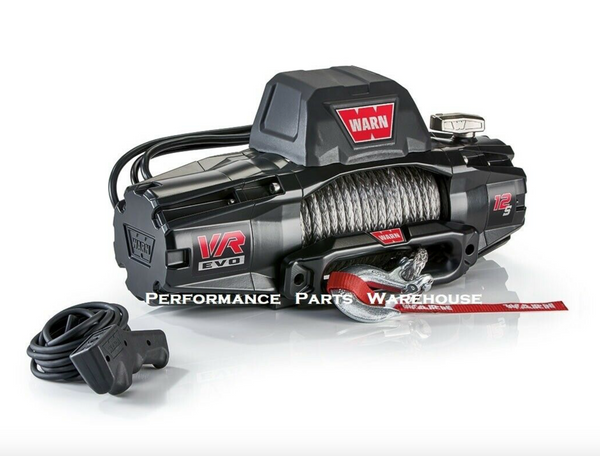 WARN VR EVO 12 STANDARD DUTY WINCH - STEEL CABLE, ROLLER FAIRLEAD 12000 LB
