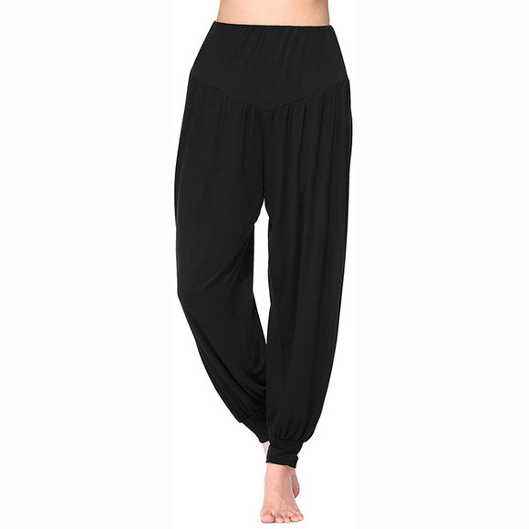 Harem Pants for Women High Waist Yoga Workout Casual Loose Soft Modal Pilates Pants