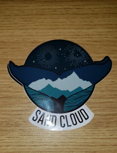 Sandcloud Whale Tail Sticker