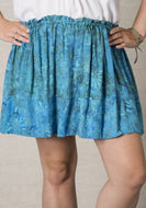 Drawstring short skirt