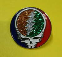 Glitter Steal your Face pin