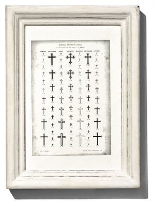WOODEN WHITE FRAME - NARROW SMALL