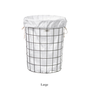 WIRE BASKET WITH PLAIN LAUNDRY BAG