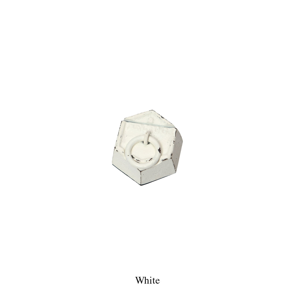 PAPER WEIGHT & CARD HOLDER - WHITE