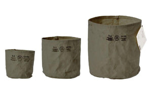 CANVAS POT COVER - MEDIUM - GREEN