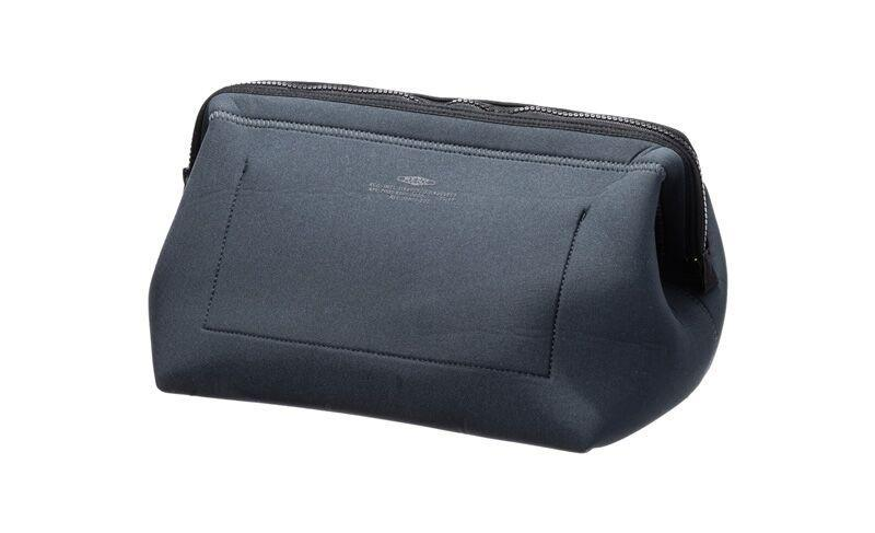 WIRED POUCH - LARGE - DARK GRAY & GREEN