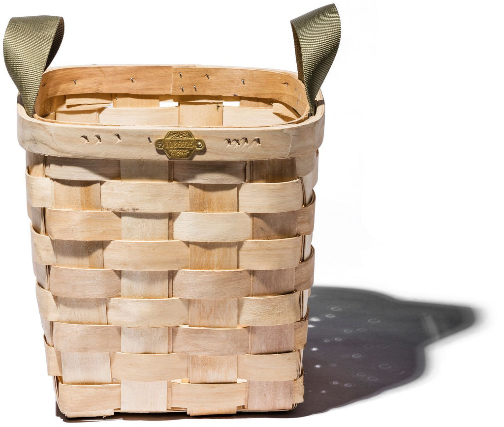 Wooden Basket Natural Square design by Puebco