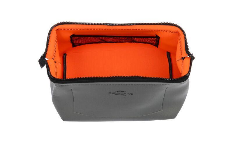 WIRED POUCH - LARGE - LIGHT GRAY & ORANGE