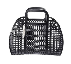 PLASTIC MARKET BAG - LARGE BLACK