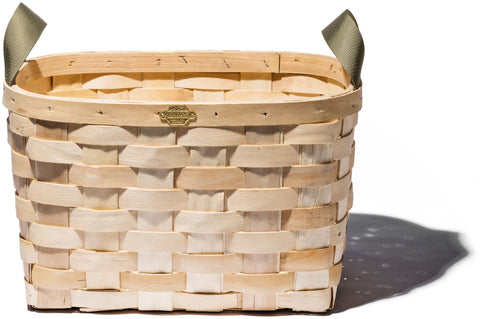 Wooden Basket Natural Rectangle