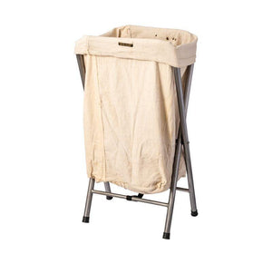 VINTAGE FOLDING LAUNDRY HAMPER - OFF WHITE