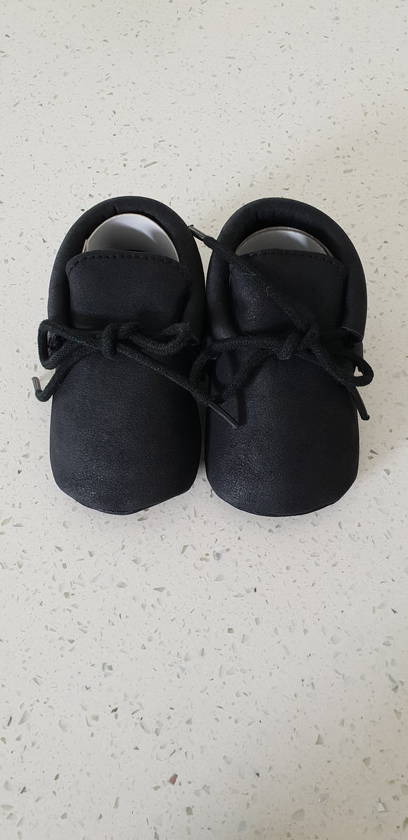 Leather Moccasins - Black