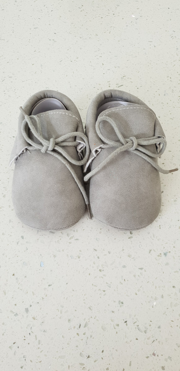 Leather Moccasins - Grey