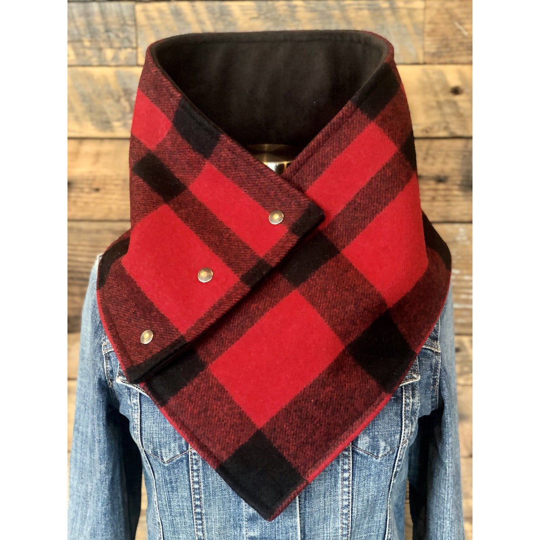 Buffalo Check (Rob Roy) with luxe black fleece WildWool