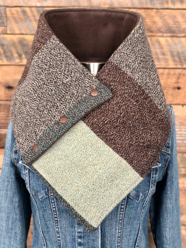 Pendleton® Pioneer Dobby blanket with luxe brown fleece WildWool