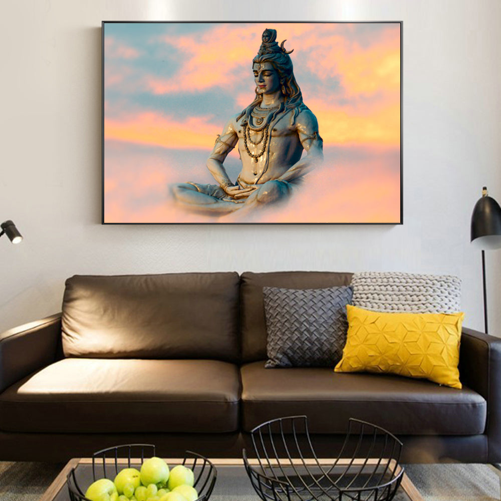 Lord Shiva Paintings Wall Art Posters And Prints Portrait Canvas Living  Room Decor