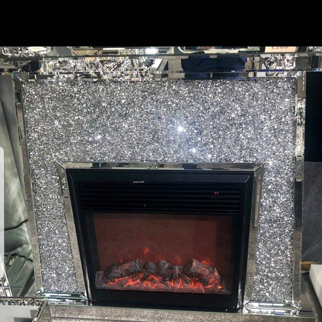 Lara crushed diamond fireplace