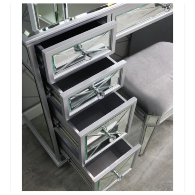 Sapphire mirrored dressing table set