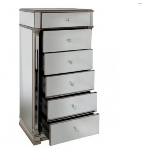 Venice 6 drawer tallboy chest