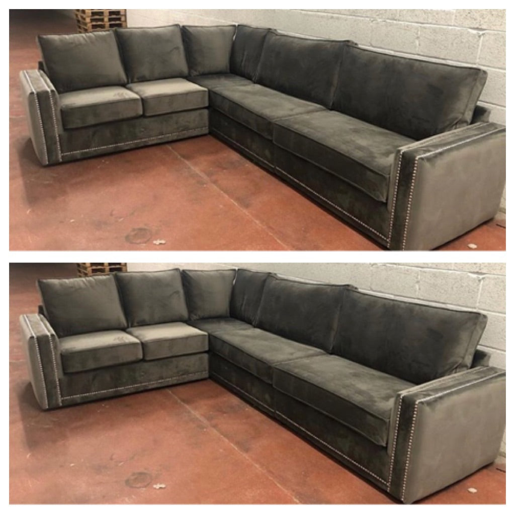 Picture of: Regal Corner Sofa House Of Bling Furniture Boutique