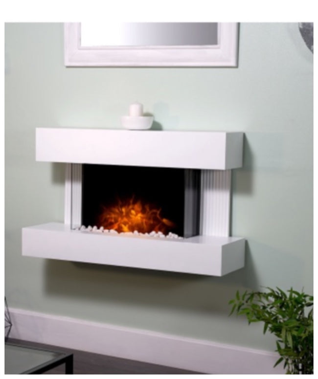 Manchester wall mounted electric fireplace