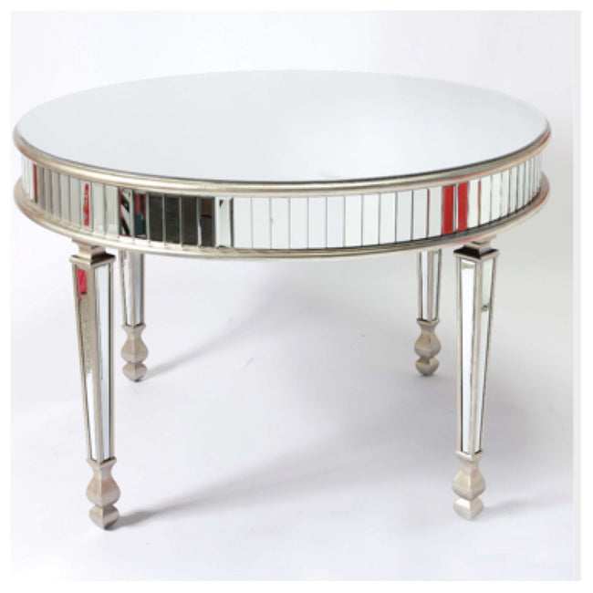 Valencia dining table champagne mirrored trim